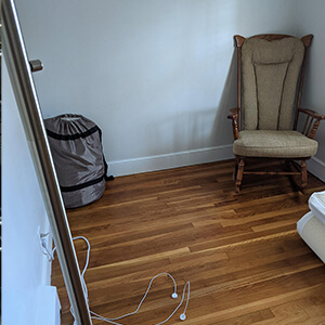 Nursery staging before and after