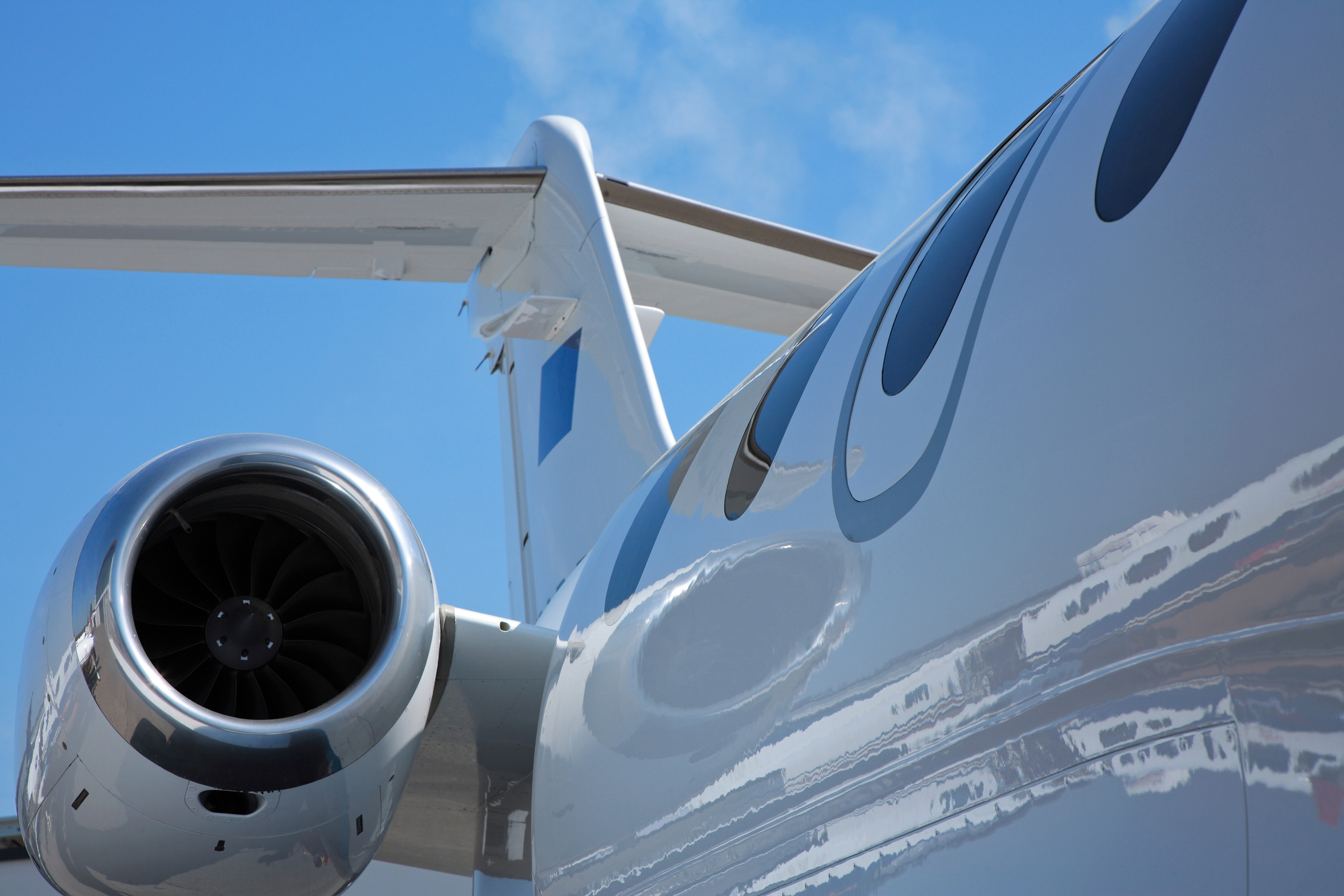 Close-Up Photo of A Private Jet