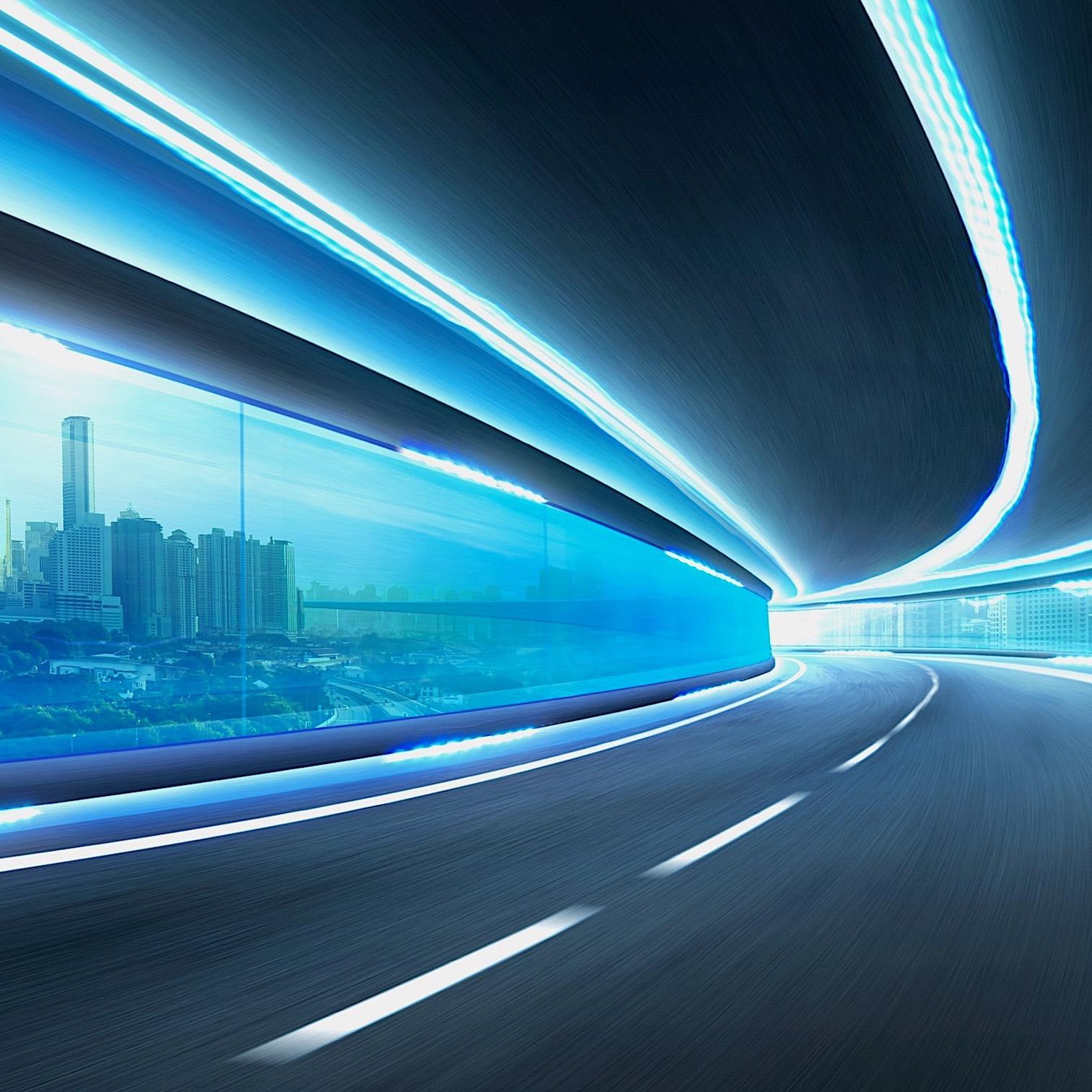 futuristic road