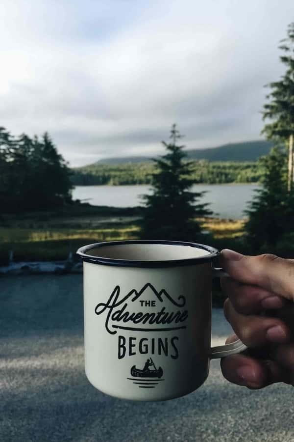 mug in nature