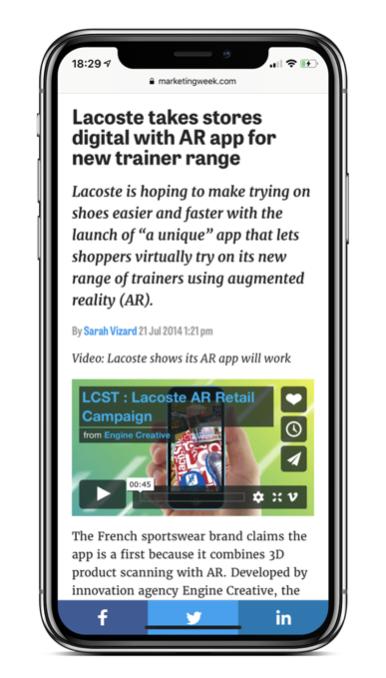 Lacoste AR App