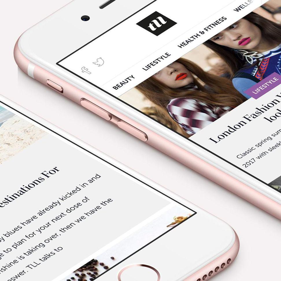 iphone showing website