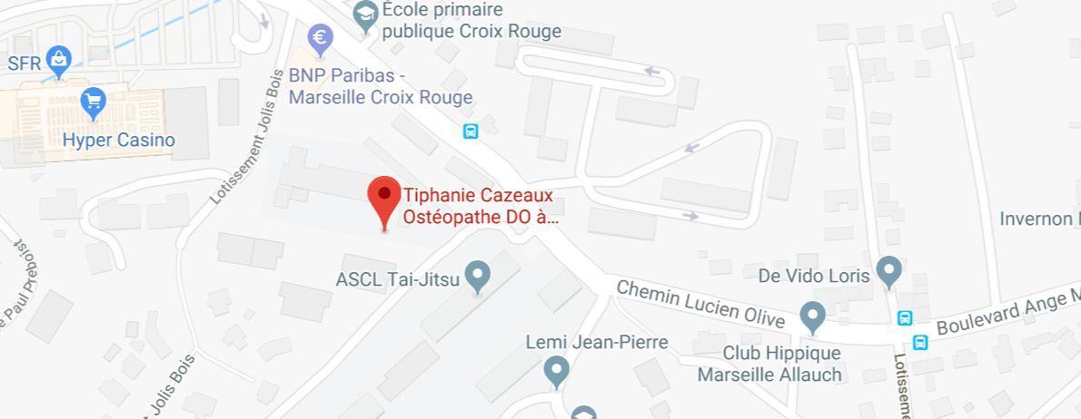 Directions pour aller au cabinet de votre ostéopathe à Marseille 13