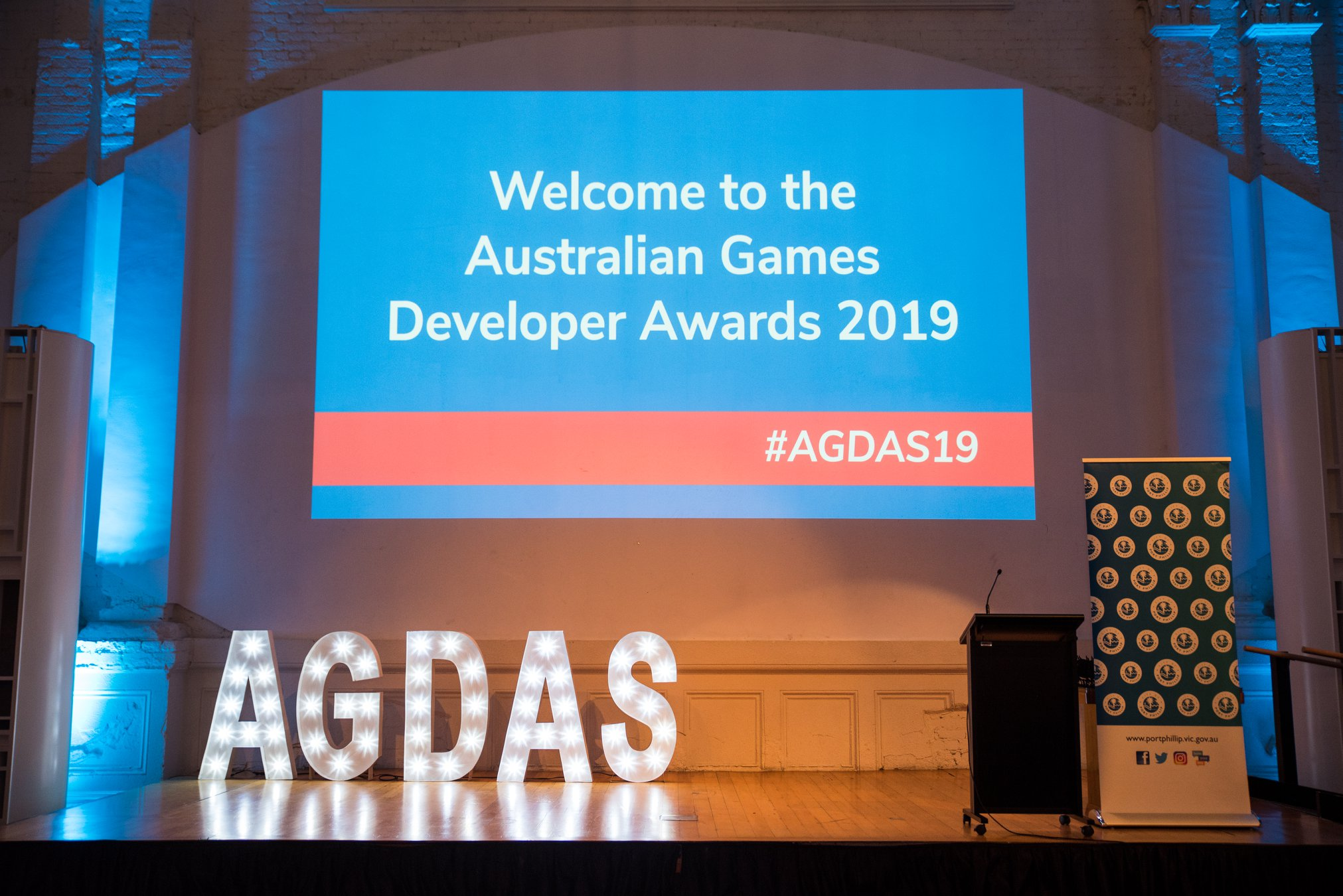 Australian Game Developer Awards 2019 (AGDAs) at GCAP during Melbourne International Games Week (MIGW), Chaos Theory wins Best Serious Game 2019 for their mobile arcade game Bleached Az - dedicated to promoting ocean health awareness and environmental conservation.
