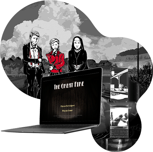 The Great Fire is a noir visual novel set in the Orpheum, a 1950s country-town cinema. ‍This game has been created as part of a research project for Macquarie University.