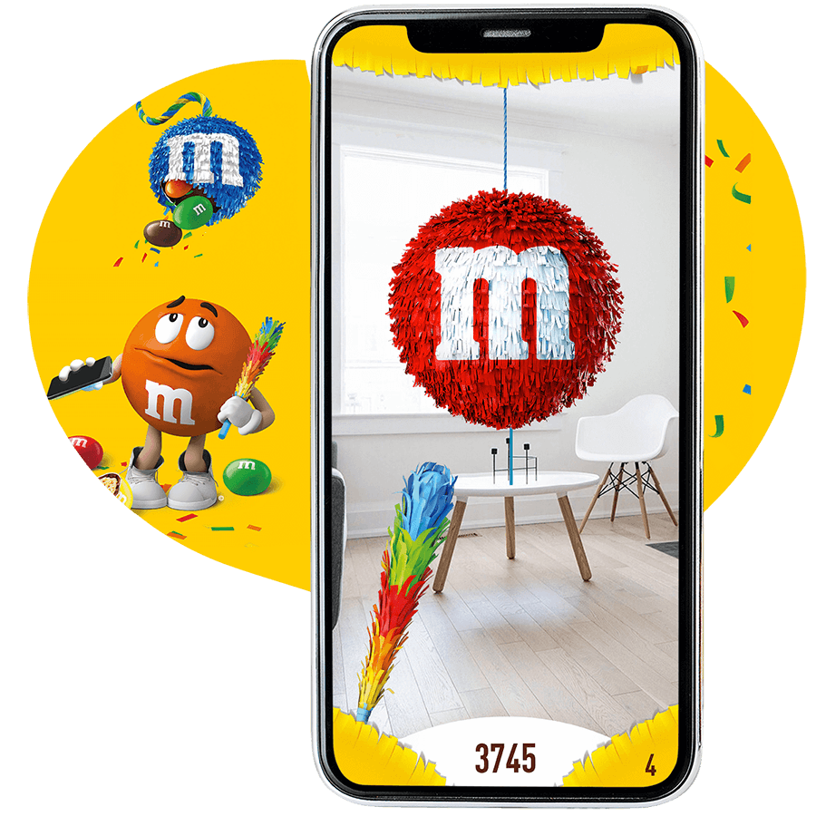 An image of the new augmented reality pinata smashing game developed in Sydney Australia