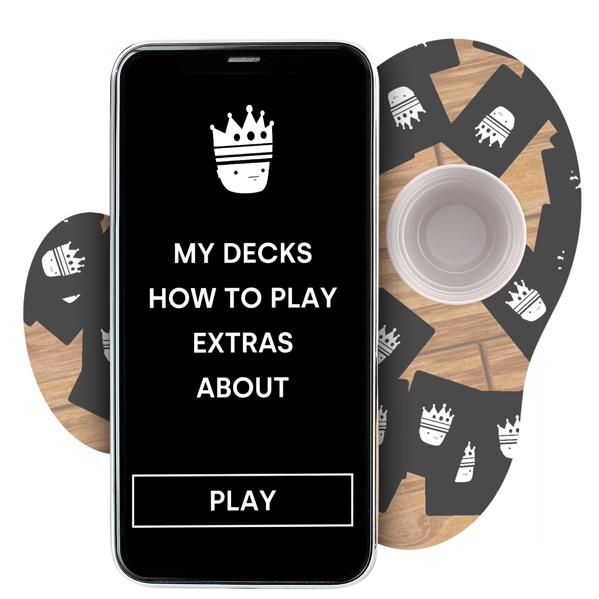 A screenshot of Cup Of Kings - a mobile card game with a huge collection of unique drinking rules.