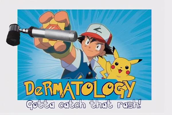 An image of Pokemon + Dermatology