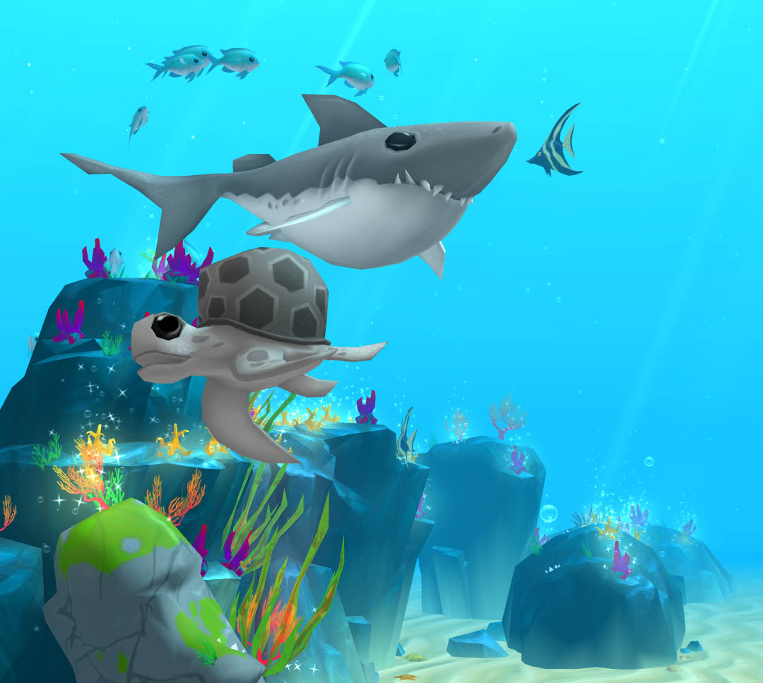 A screenshot of creatures players can collect in Rainbow Reef