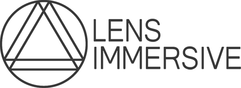 A Logo for Lens immersive, a Sydney based VR development studio