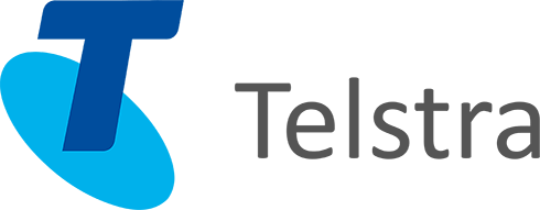 A Logo for Telstra, an Australian telecommunications company with a focus on innovative technology
