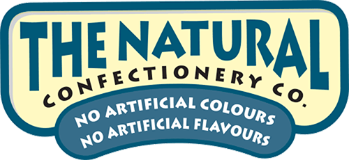 A logo for The Natural Confectionery Co. an Australian confectionery brand owned by Mondelez