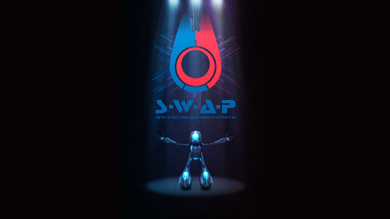 A poster mockup of S.W.A.P.
