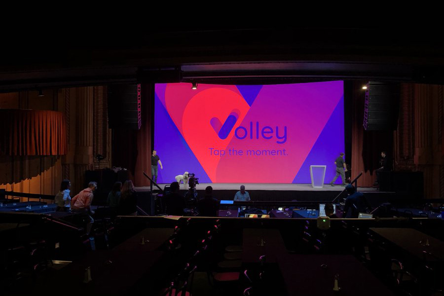 A photograph of the Executive Marketing Summit event where the Volley team had a keynote speaker.