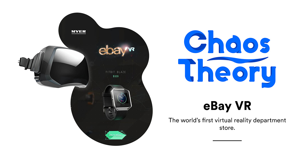 eBay VR: the world's First VR department store | Chaos Theory