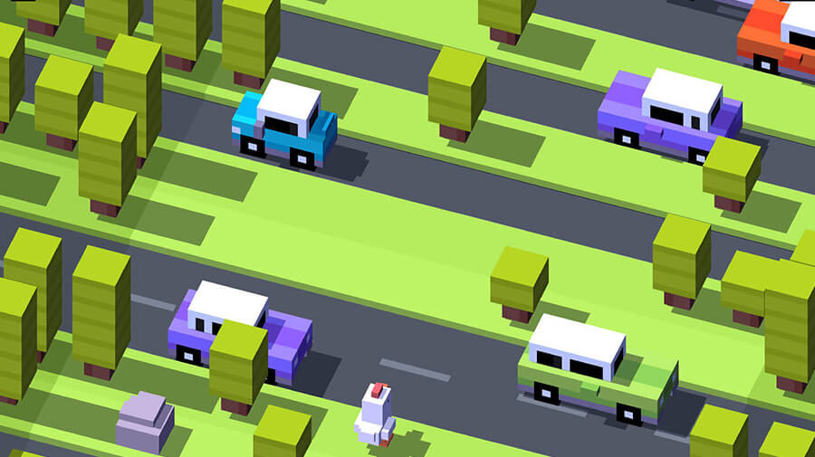 A screenshot from the game Cross Road by Hipster Whale