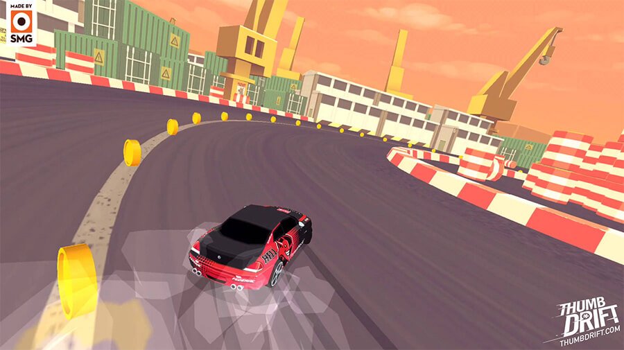 A screenshot from the game Thumbdrift by SMG studios