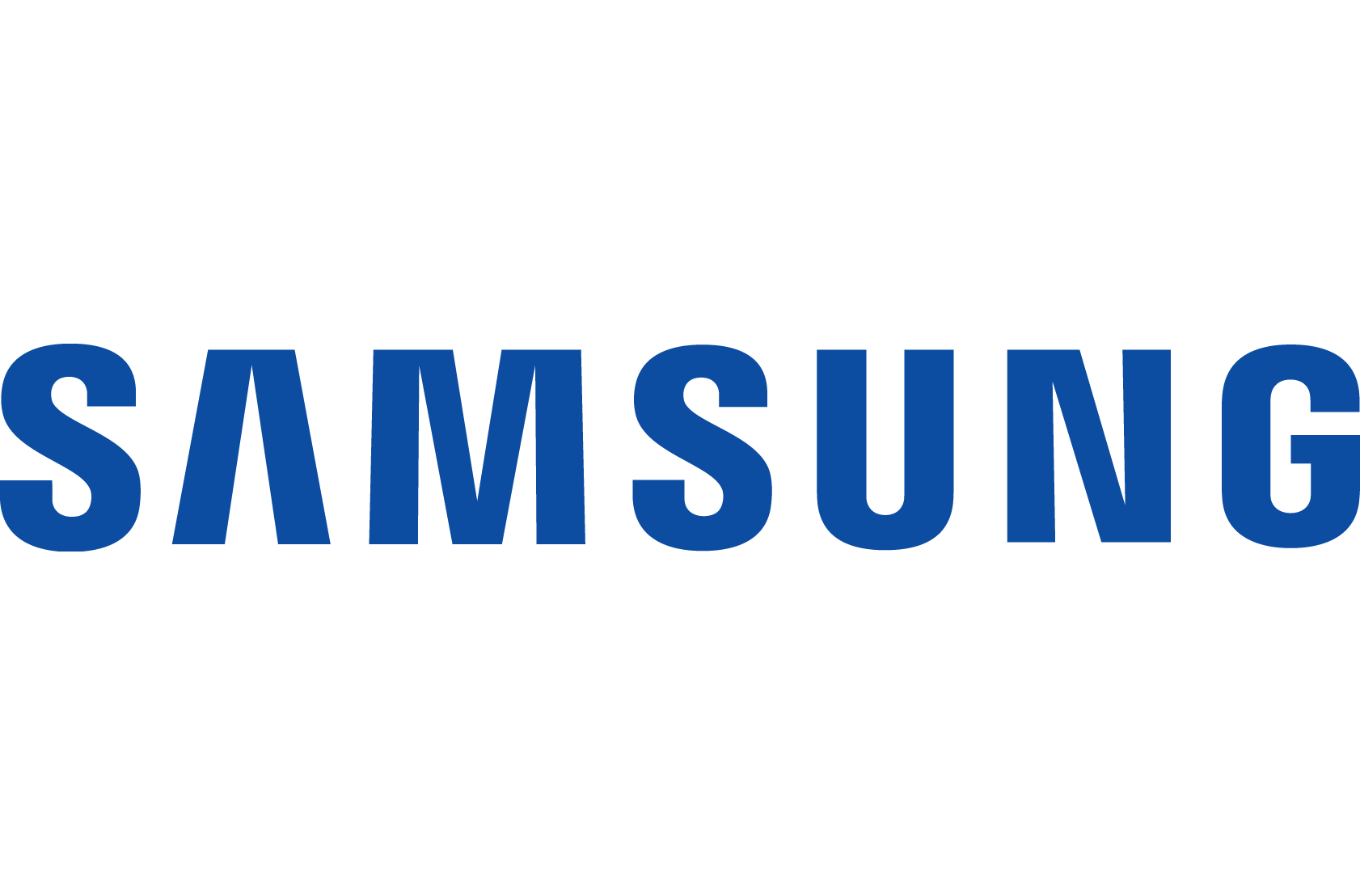 A Logo for Samsung, one of the world's largest producers of electronic devices