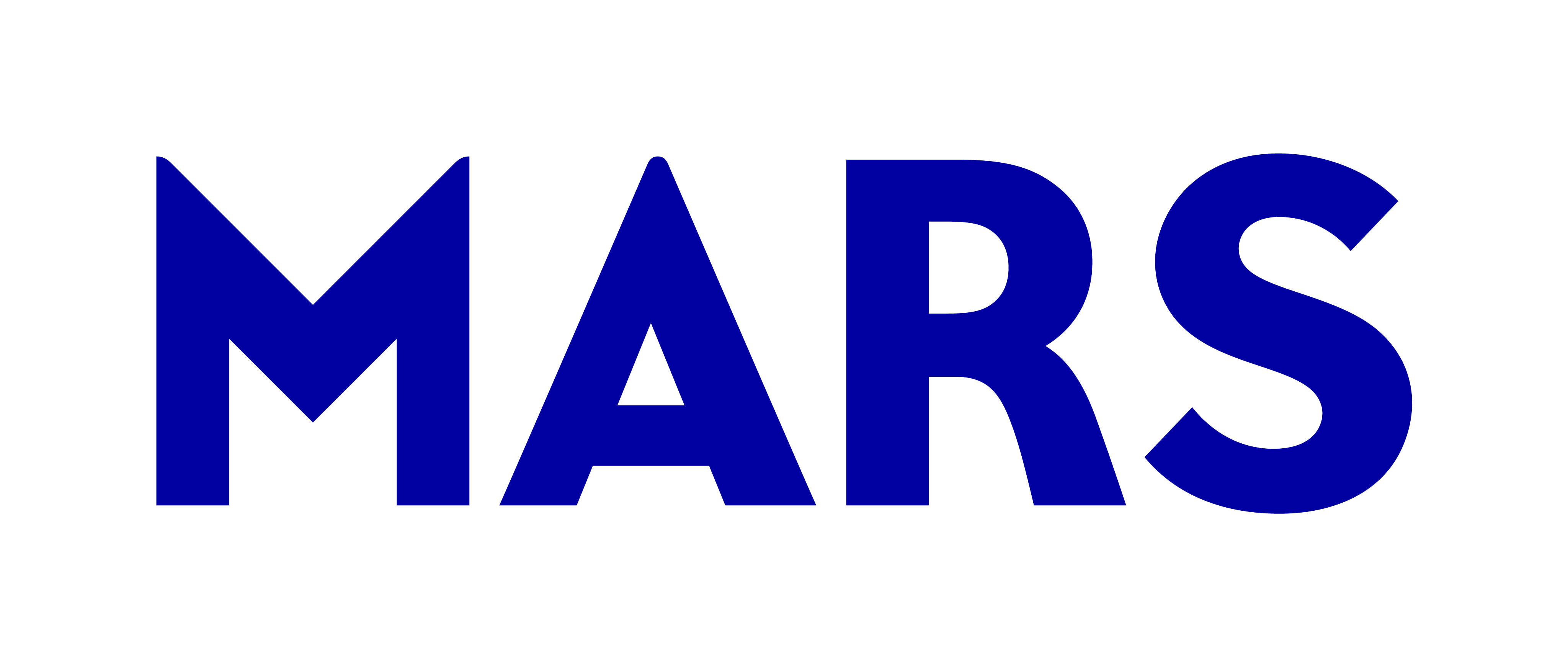 A logo for Mars Incorporated, American global manufacturer of confectionery, pet food, and other food products and a provider of animal care services