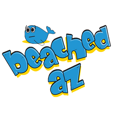 A logo for Beached Az, Australian online cult cartoon series since 2008