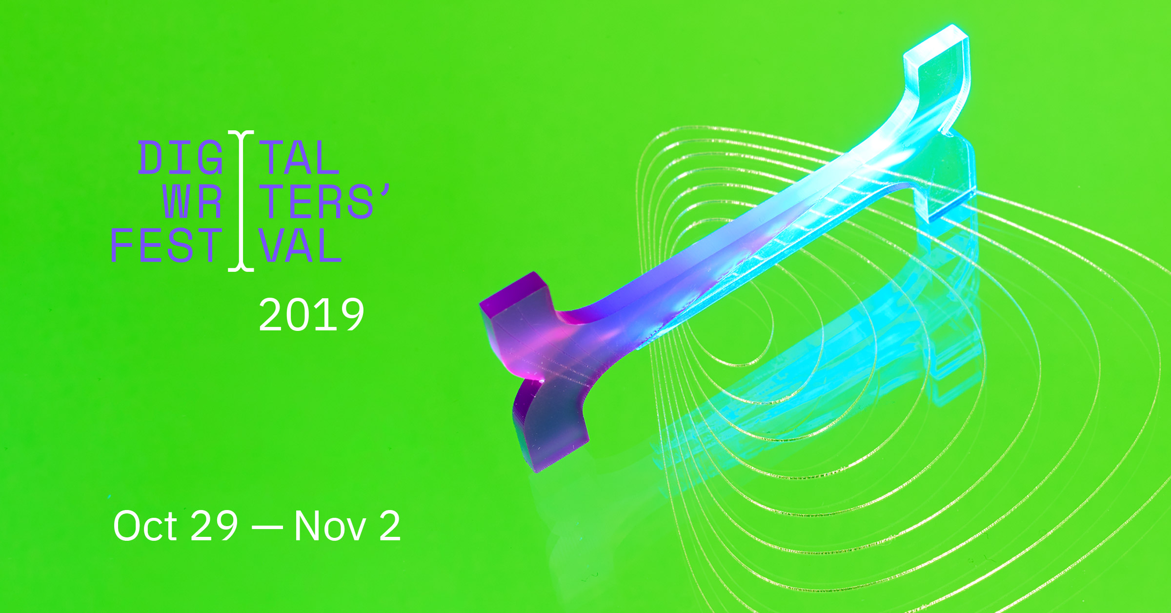 Promotional Graphic from the Digital Writers' Festival 2019