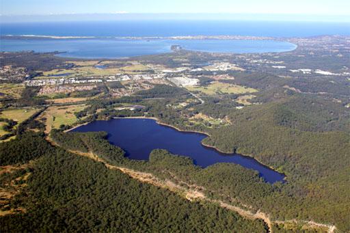 A photograph of  the Mardi Dam in Mardi, Central Coast NSW Australia