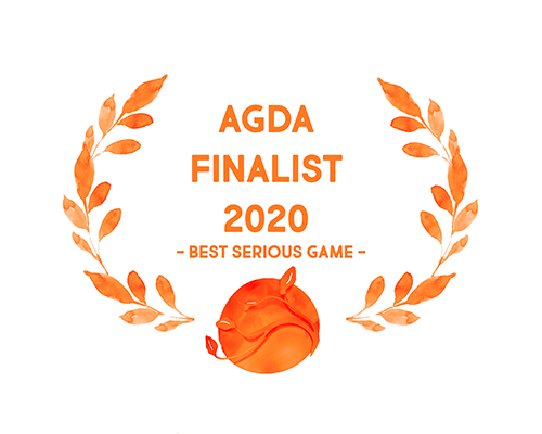 Australian Game Developer Awards (AGDAs) Finalist badge for Best Serious Games nominee 2020. KangaZoo is a mobile simulation game developed by PentaQuest and Chaos Theory.