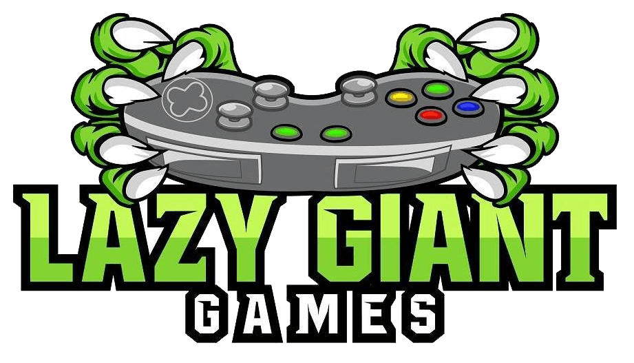 A Logo for Lazy Giant Games, a Sydney based game development studio
