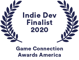 Chaos Theory's awards badge for their Finalist nomination at the Game Connection America Indie Development Awards Finalist 2020