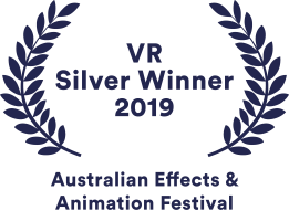 Chaos Theory's awards badge for winning Silver in the VR Experience category at the Australian Effects and Animation Festival 2019 (AEAF)