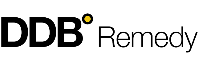 A Logo for DDB Remedy, An industry-leading full service creative healthcare agency across consumer and HCP communications, and medical education.
