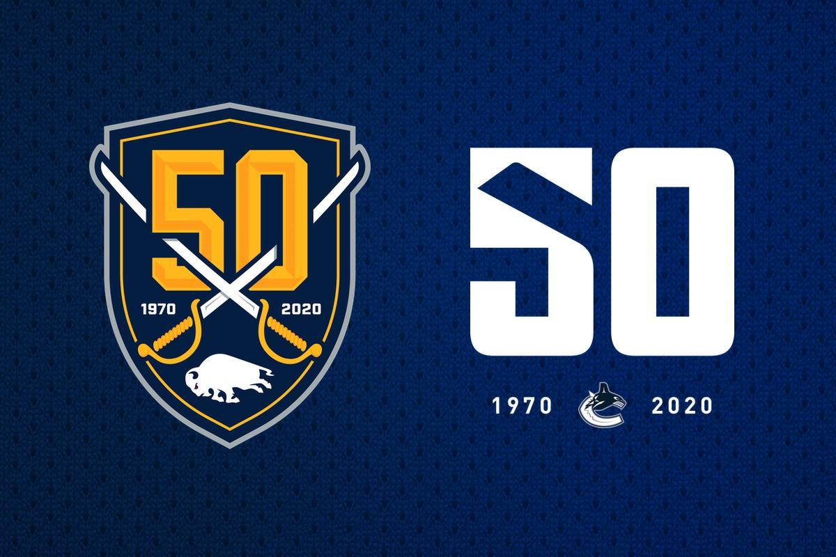 50/50: Anniversary logos mark milestones for Sabres, Canucks