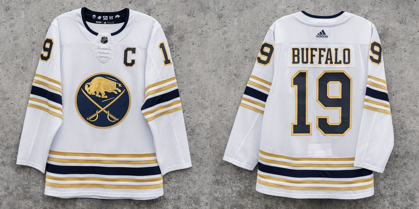 premium selection 51c44 bca4f icethetics.com: Buffalo Sabres unveil 50th anniversary third ...