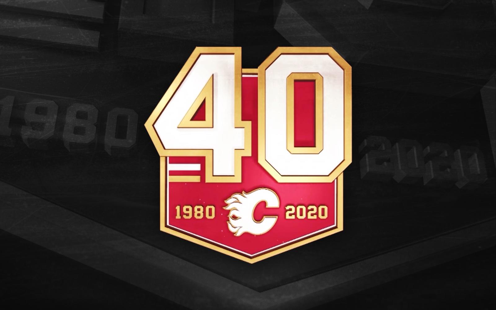 Calgary Flames reveal 40th anniversary logo
