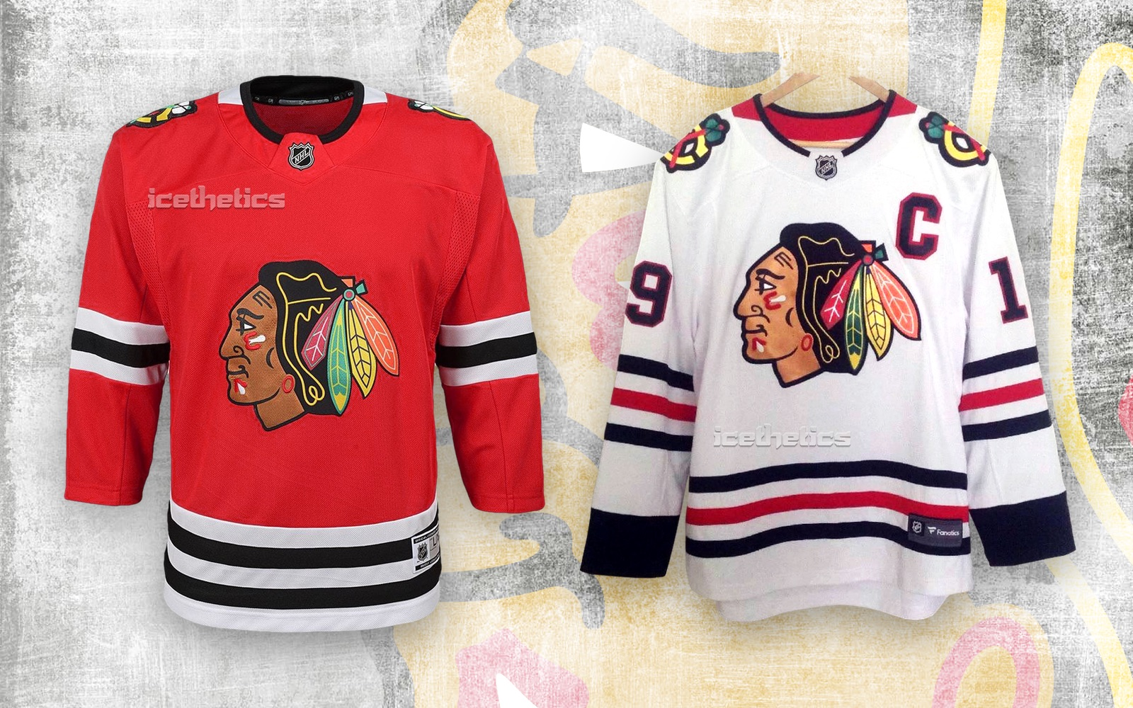 Early look at new Chicago Blackhawks jersey collars