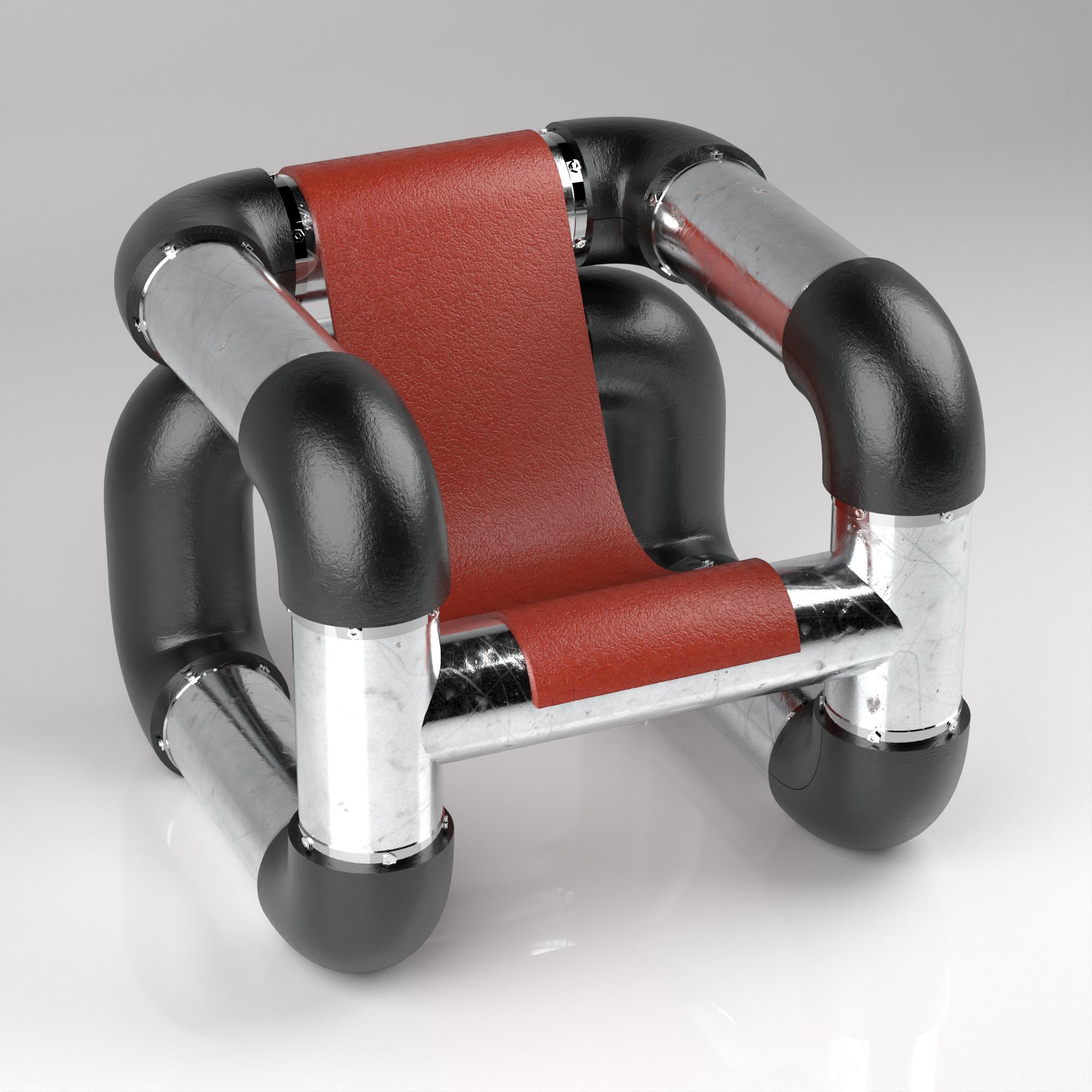 Procedural Pipe Chair - Rahul Girish