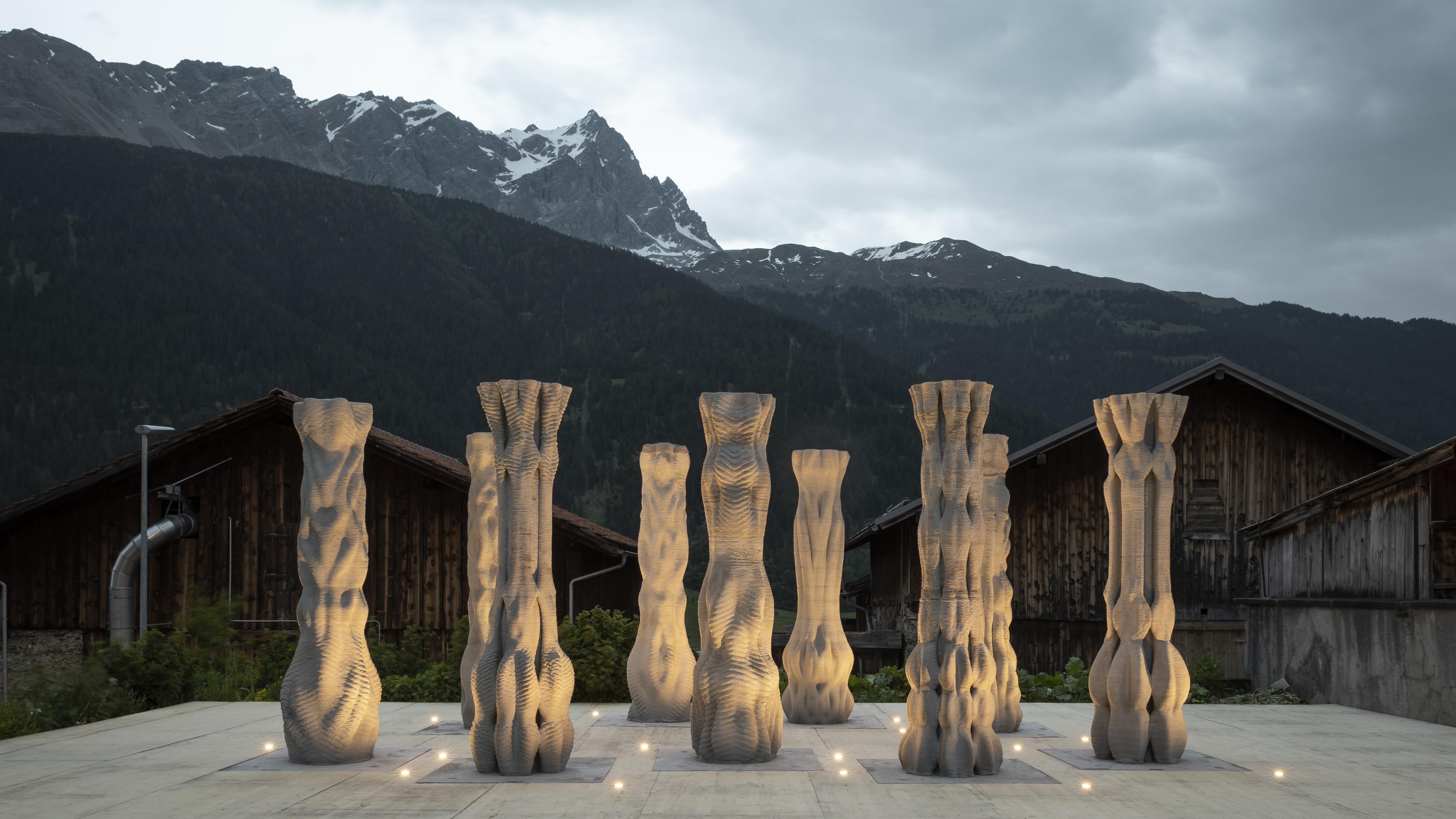 3D Printed Concrete Columns