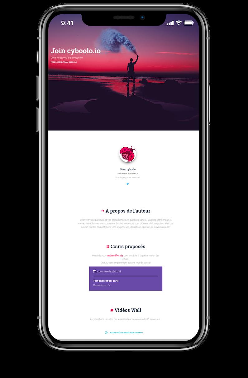 Cours en ligne sur mobile avec cyboolo
