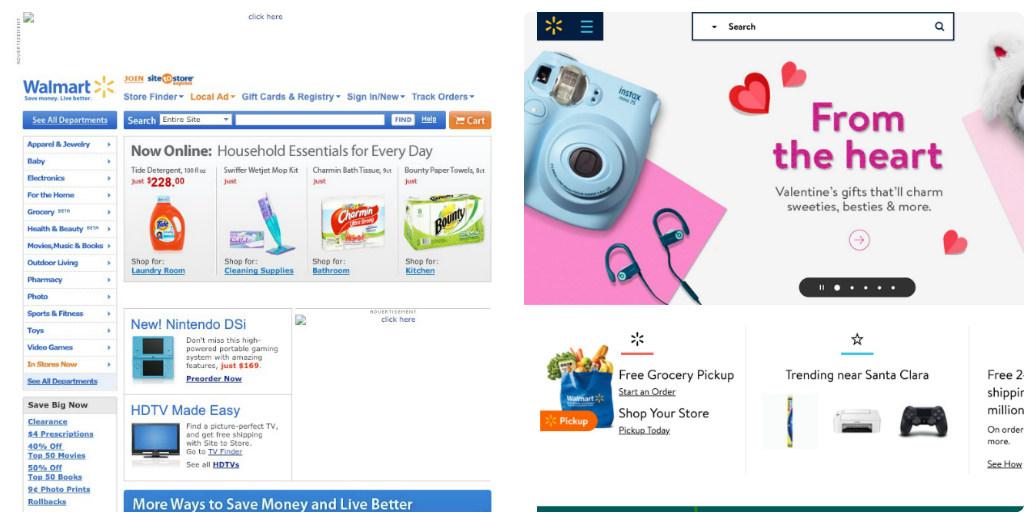 Walmart thay đổi thiết kế giao diện web trong 10 năm như thế nào