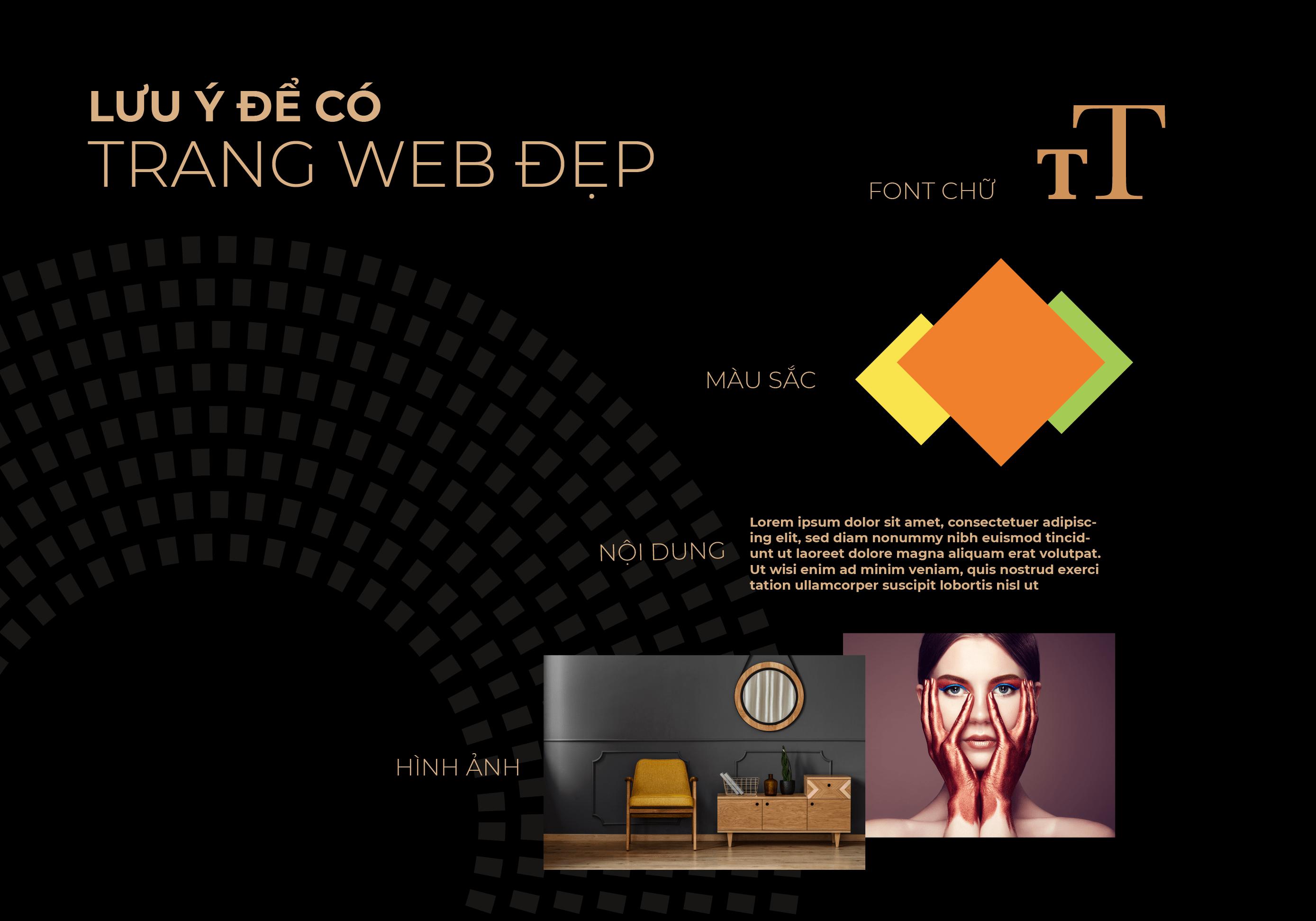 lưu ý thiết kế trang web đẹp