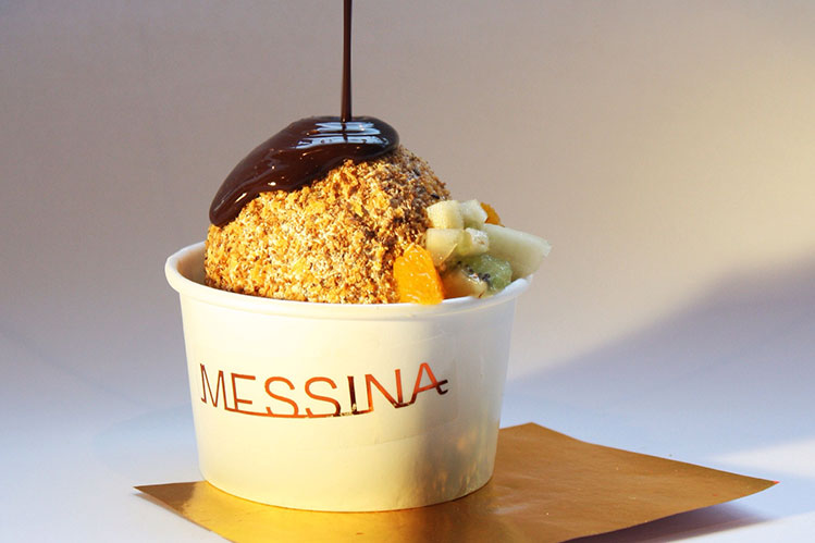 The origional deep fried ice cream ball in Australia created by Gelato Messina in 2015