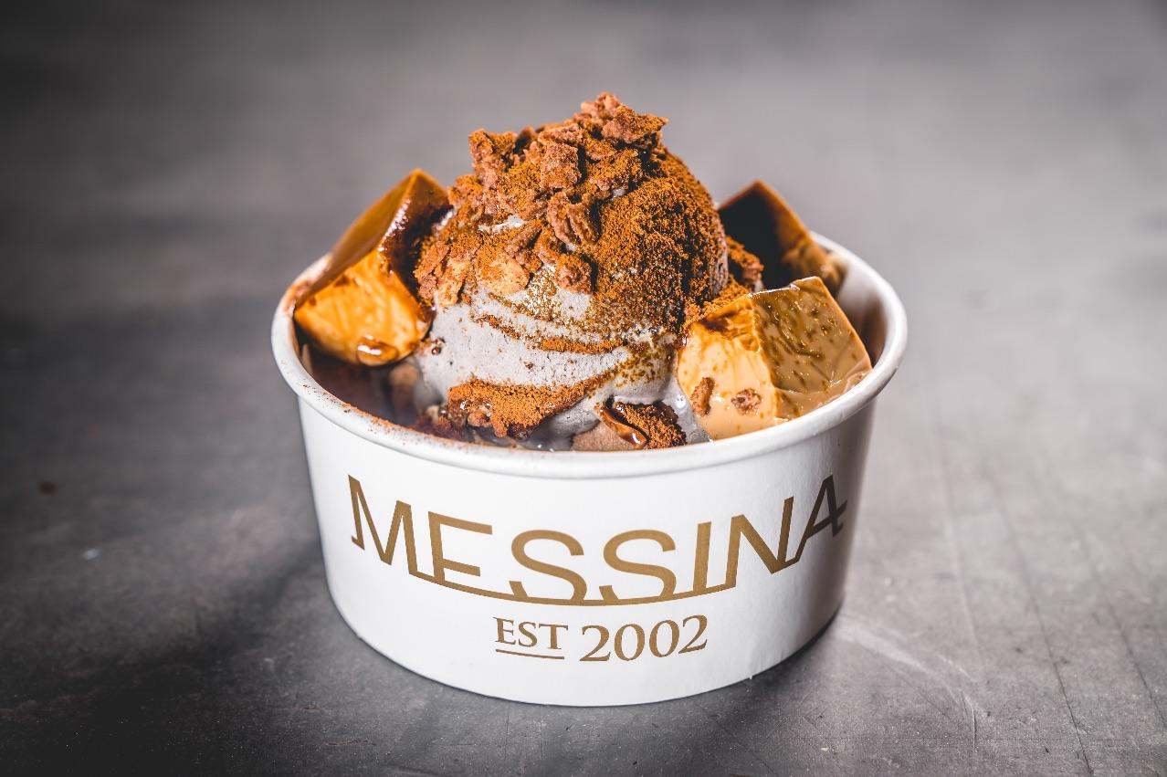 I THINK I'M TURNING SESAME – Black sesame gelato, condensed milk coffee jelly, miso crunch, banana miso bread, vanilla cream and coffee powder
