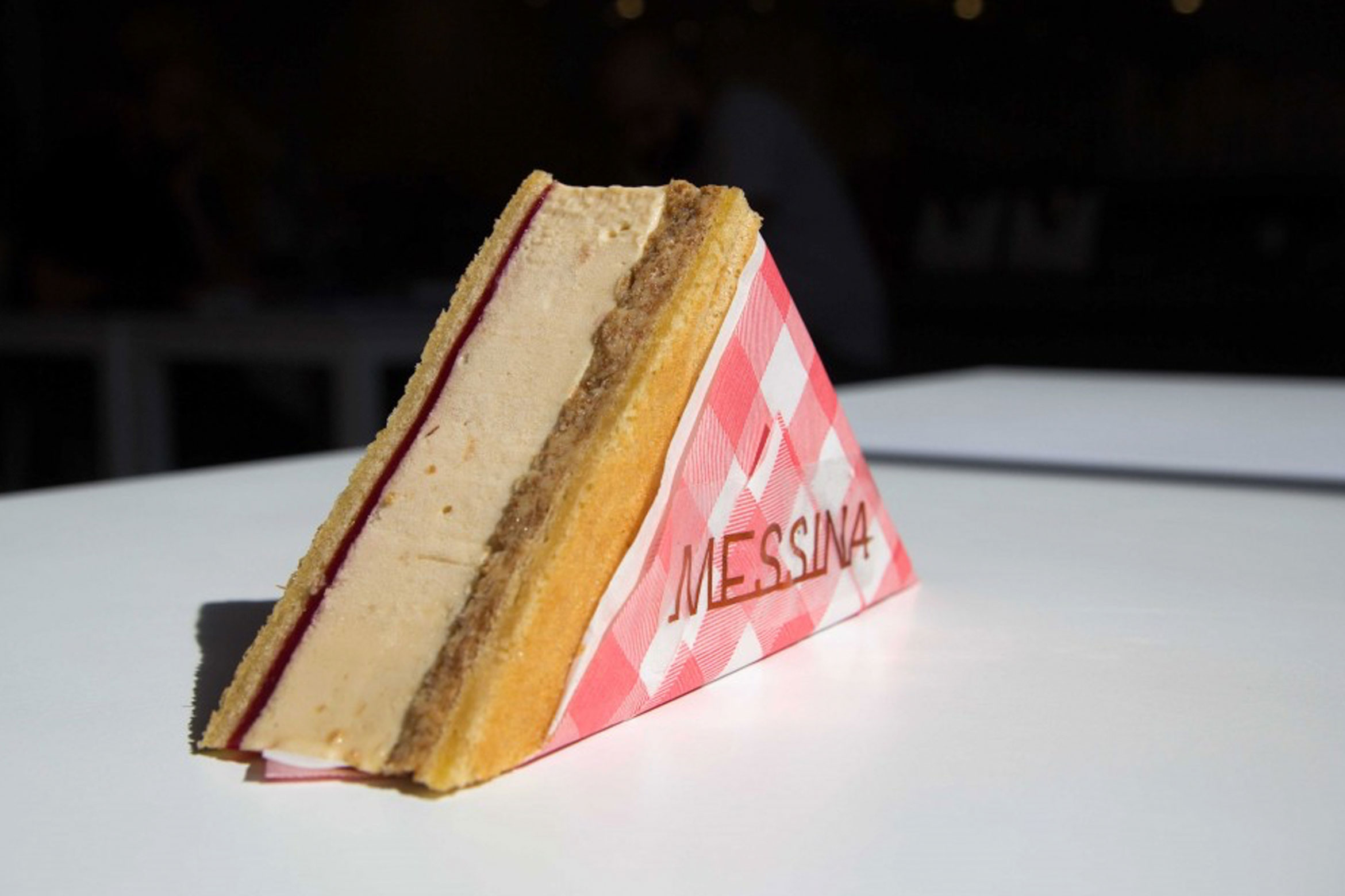 Messina's Peanut Butter and Jelly Gelato Sandwich