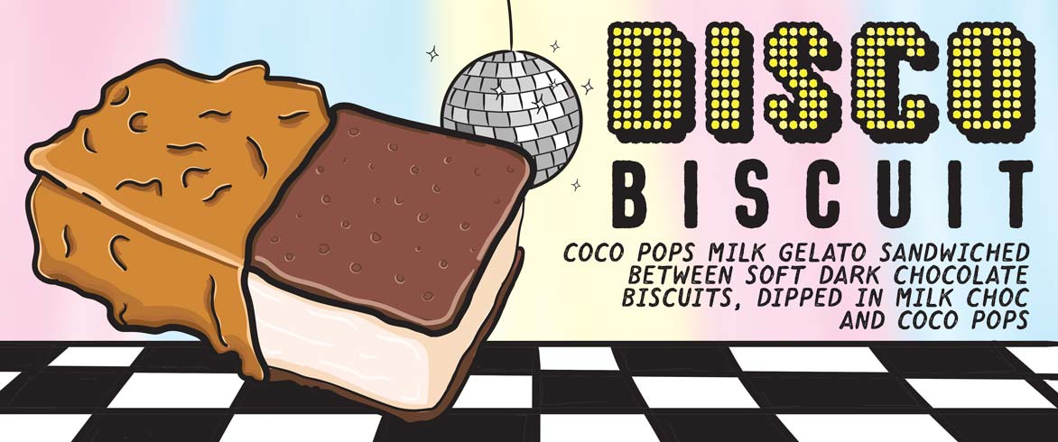 Gelato Messina's Disco Biscuit available from their van at North Bondi Beach.