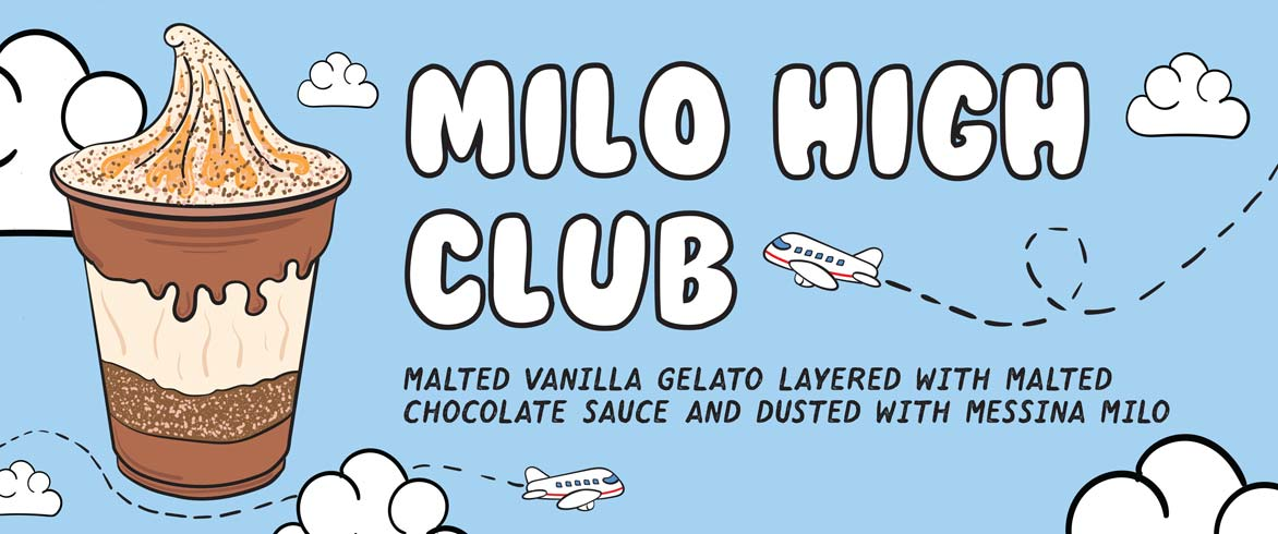 Gelato Messina's Milo High Club available from their van at North Bondi Beach.
