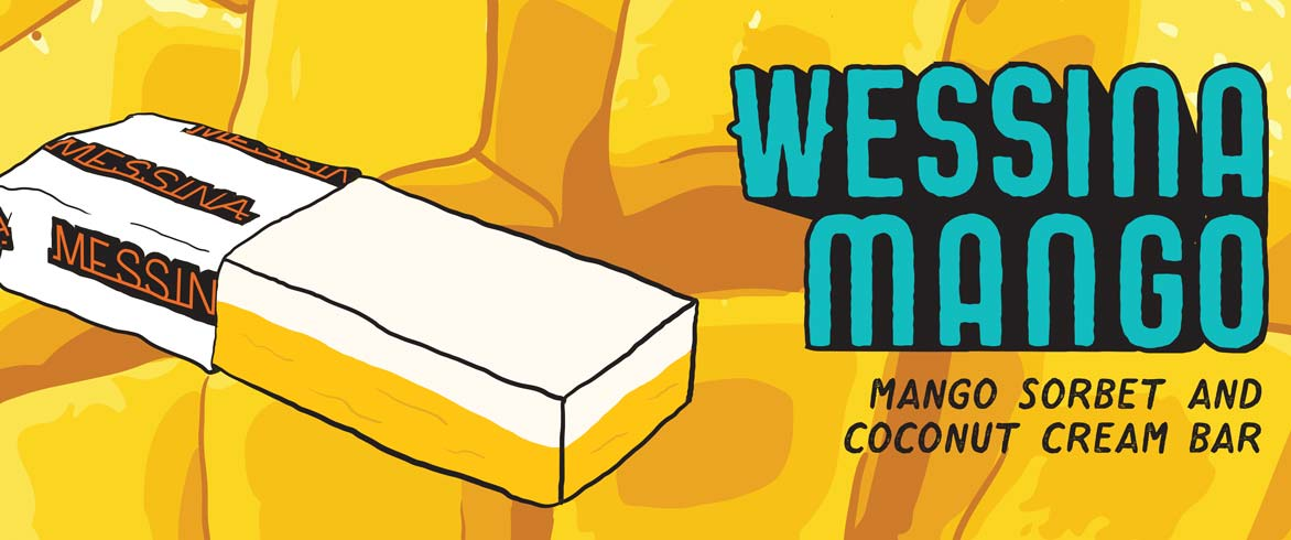Gelato Messina's Wessina Mango available from their van at North Bondi Beach.
