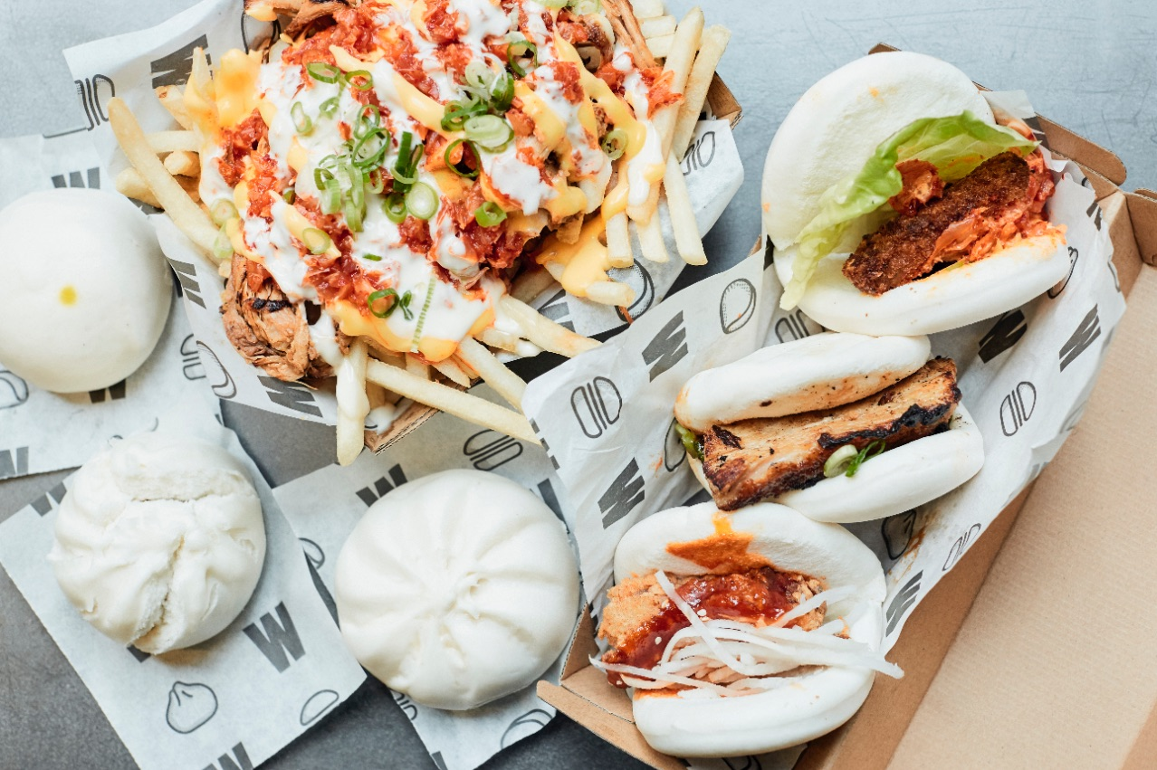 messina eats wonderbao; loaded fries, gua bao, filled baos