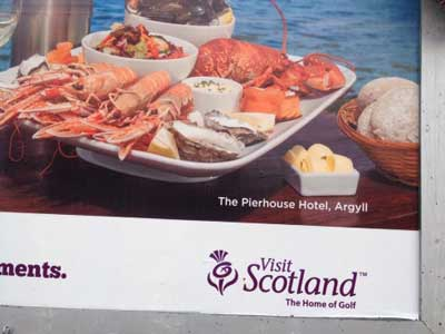The Pierhouse features in the highly successful Visit Scotland advertising campaign launched to coincide with the Ryder Cup