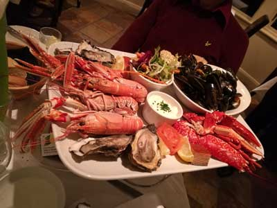 """""""The seafood platter was amazing"""""""