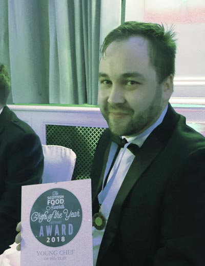 The Pierhouse Head Chef, Sergejs Savickis, wins Young Chef of the Year 2018 at the Scottish Food Awards